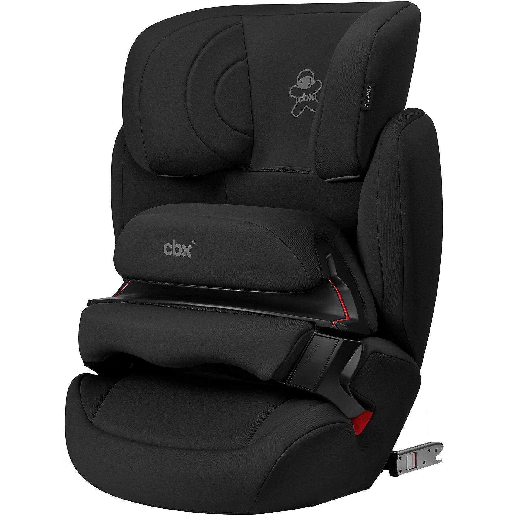 CBX by Cybex Auto-Kindersitz Aura-Fix, Cozy Black/ black, 2018